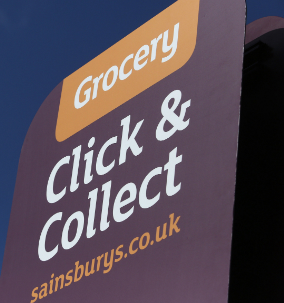 UK retailer Sainsbury's is rolling out a new service allowing customers the option of picking up the shopping they've ordered online from a nearby store.