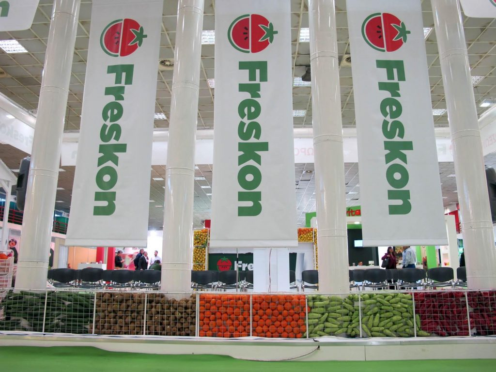 The first 'Freskon' International Exhibition of Fresh Fruit and Vegetables attracted trade visitors and professionals coming from 21 countries.