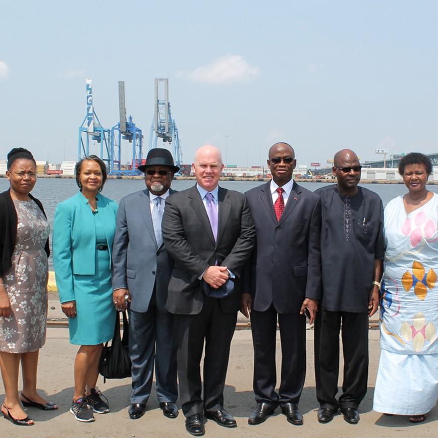 Holt and African Delegation - Edited