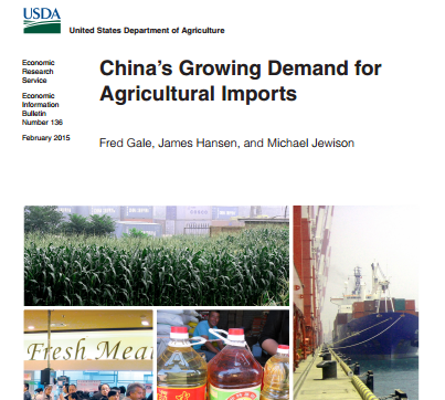 The United States' imports of fresh vegetables from China grew 185% in value to $214.3 million in the five years to 2013, a report by the US Department of Agriculture (USDA) shows.