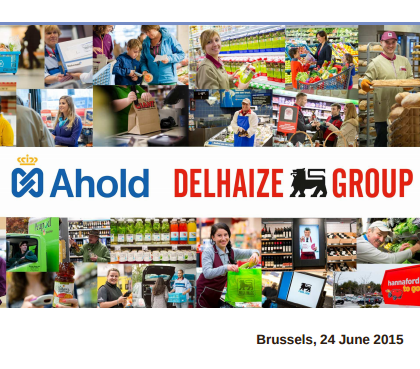 Leading international food retailers Delhaize Group (Delhaize) and Royal Ahold N.V. (Ahold) are to merge into a company to be known as Ahold Delhaize.