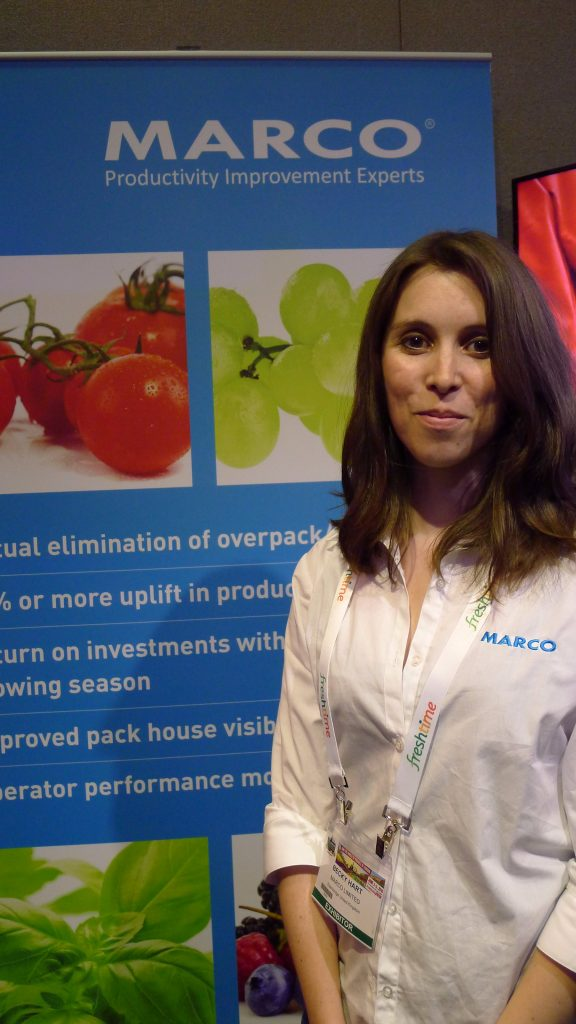 Among the hardware and software products Marco was promoting at the show were its Field Side Packing solution, which allows producer who don't have dedicated pack houses to nevertheless meet retailers' demand for accurately declared weights on pre-packed produce.