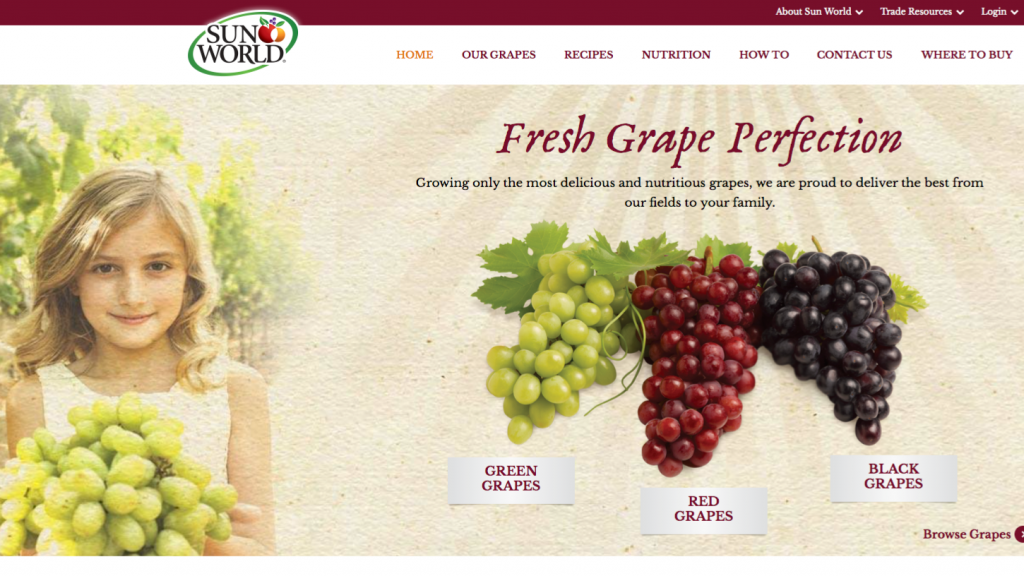 Sun World said online searches related to grapes occur in the hundreds of thousands every month.