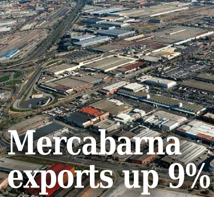 Fruit and vegetable exports from Mercabarna rose by 9% in the first half of 2015 compared with the same period in 2014, according to data from the Catalan market.