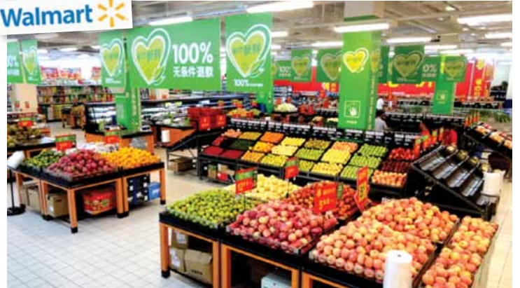 """Walmart China has launched the """"100% Freshness guaranteed"""" campaign and is planning to open 100 more shops by 2016."""