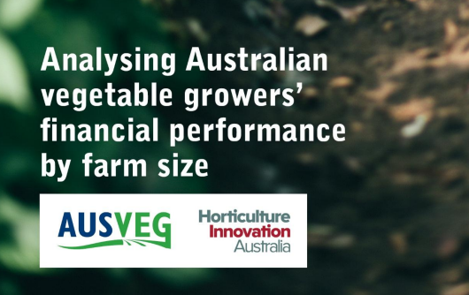Australia's vegetable growing industry generated approximately AUS $3.5 billion in gross value of production in 2013-14, with 5,300 agricultural businesses that produced vegetables for human consumption. The industry is represented by a large proportion of smaller-sized growers and fewer larger-sized growers.