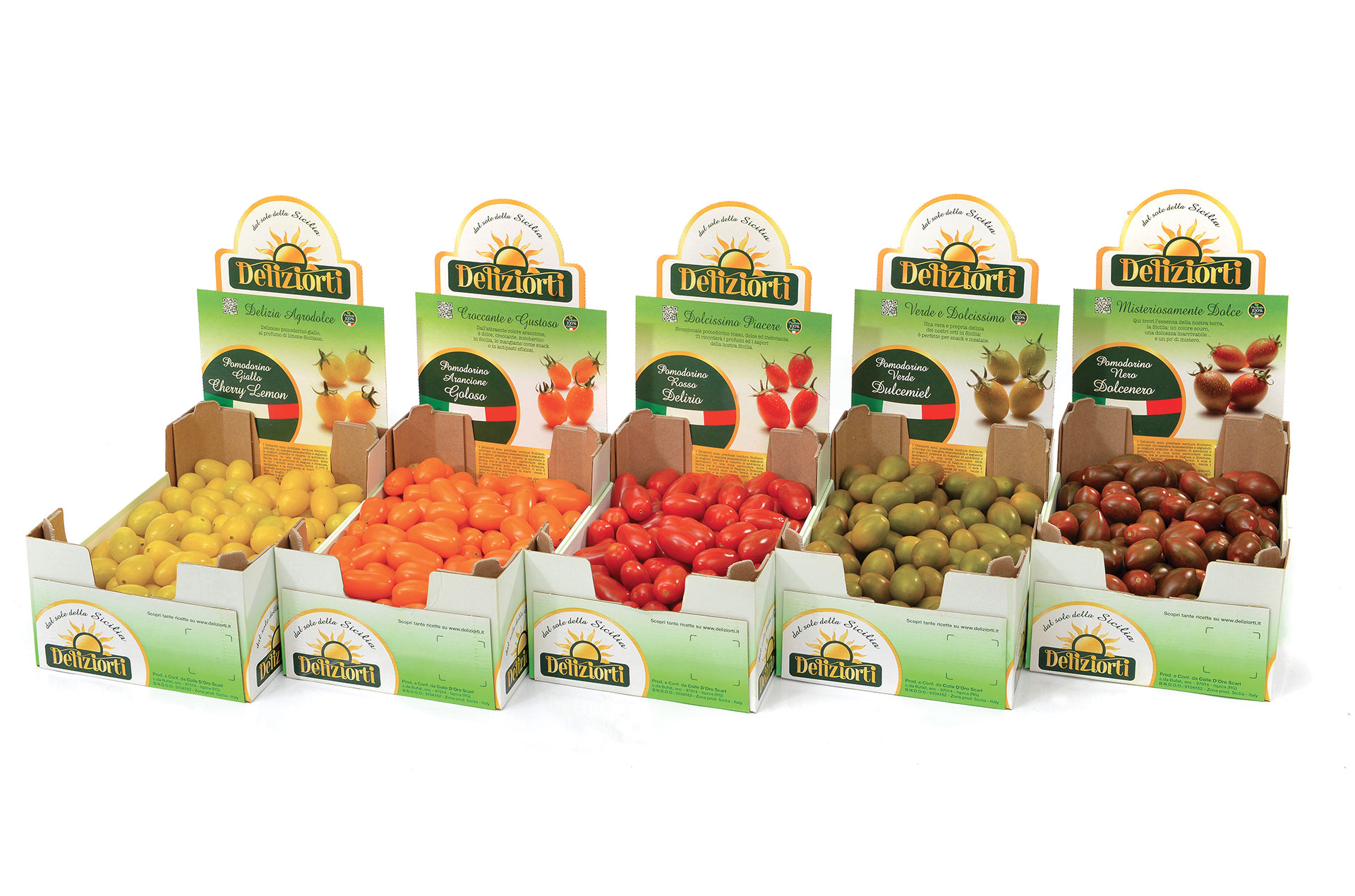 """olle d'Oro's new brand Deliziorti is designed to highlight the source of the produce, under the slogan """"From the Sicilian sun."""""""