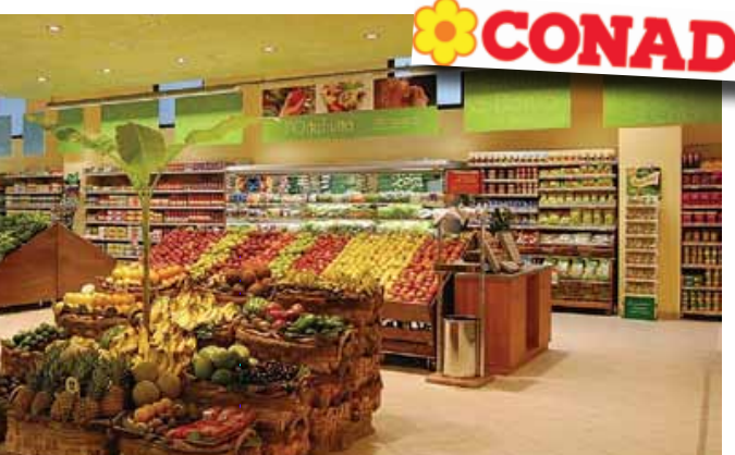 Founded in Bologna in 1962, Conad is now the biggest independent retailers' cooperative, with its own central buying and services office within the national consortium.