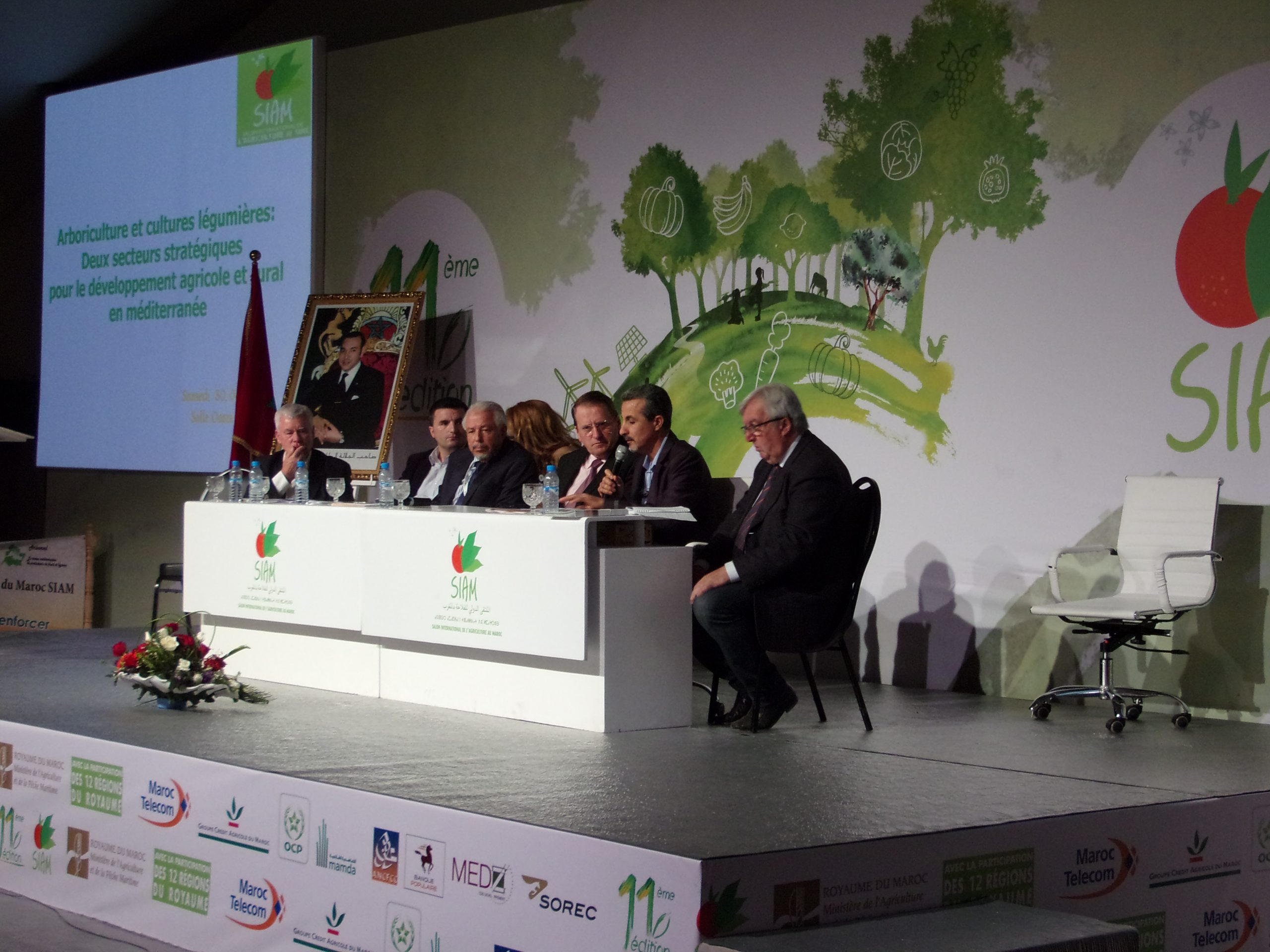 """As part of the 11th SIAM (Salon International de l'Agriculture au Maroc) in Meknes this year, the network Arbomed held a symposium on the theme """"An observatory of production and markets, a key to strengthening the strategic sectors of fruit and vegetables in the Mediterranean """"."""