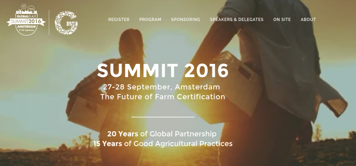 GLOBALG.A.P. is pleased to announce that Prince Pieter-Christiaan van Oranje-Nassau, member of the Dutch Royal Family, will officially open the GLOBALG.A.P. SUMMIT on 27 September 2016 in Amsterdam.