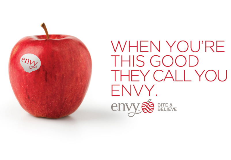 Envy currently ranks fifth in volume, behind the well-established Honeycrisp, Pink Lady, JAZZ™, and Ambrosia, which is remarkable given it has been commercially available for just four years, said Oppy's executive category director for apples and pears David Nelley.