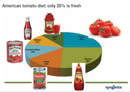 The domestic tomato crop meets just 41% of demand in the US. A small proportion – 6% – is imported from Canada but the vast majority of fresh tomatoes for this market are supplied by Mexican growers who offer consistent winter supplies and low labour costs and account for 52% of the market,