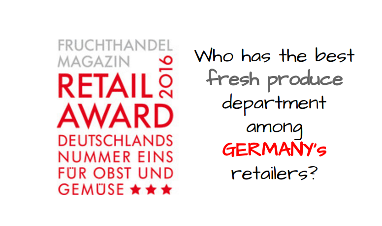 Globus was the winner in the hypermarkets category, Edeka in the full range supermarkets category and Lidl in the discount category in the latest Fruchthandel Magazine retail awards for the best fresh produce departments among Germany retailers.