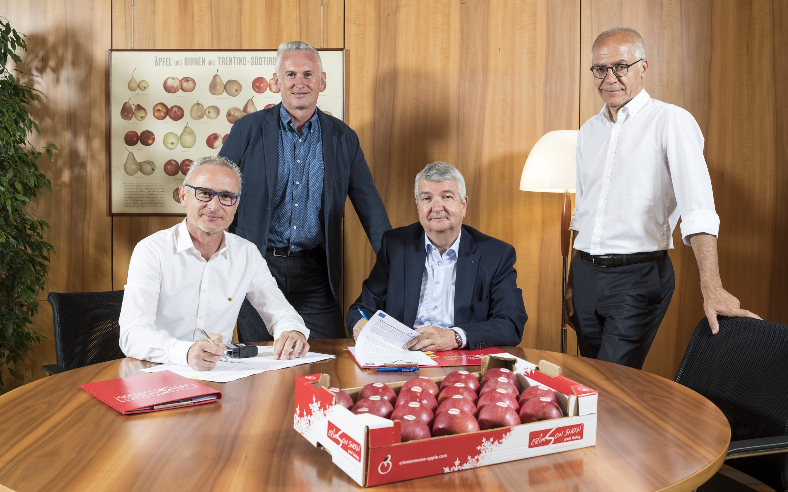A new Club apple is to be added to the assortment offered by the Italian apple Consortium, VOG, which from 2020 will be planting trees to produce Crimson Snow®, which has crimson skin and white flesh.