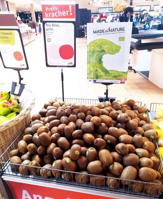 """The European """"Made in Nature"""" project brings Italian organic Kiwifruit to Germany"""