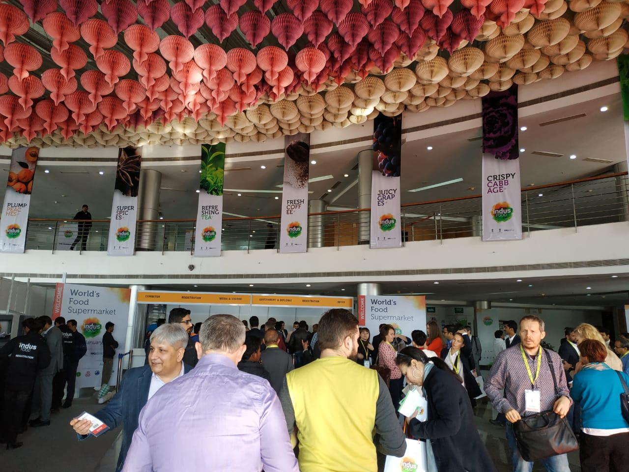 Over 1,400 exhibitors and visitors at Indusfood international fair
