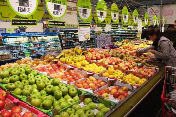 French consumption of fresh produce falls while expenditure rises