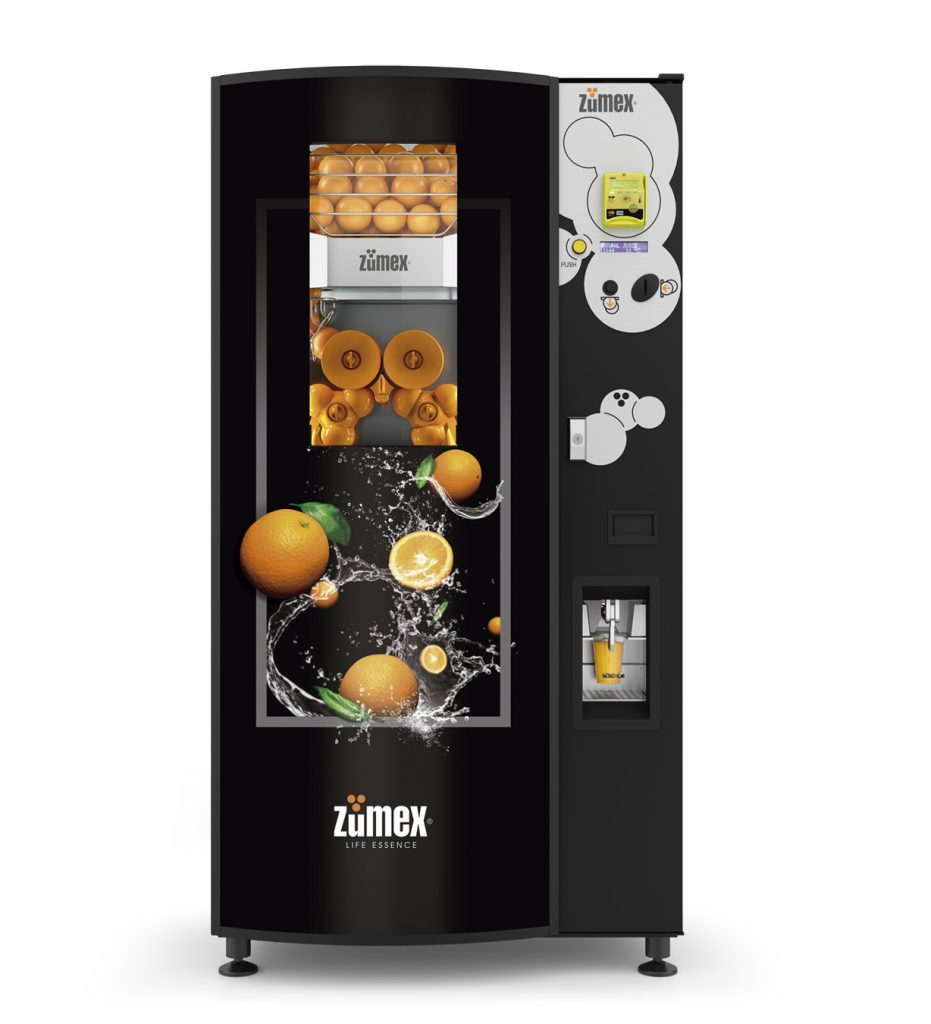 Natural Vending by ZUMEX®, the new smart machines for quick, healthy juice 'on the go'