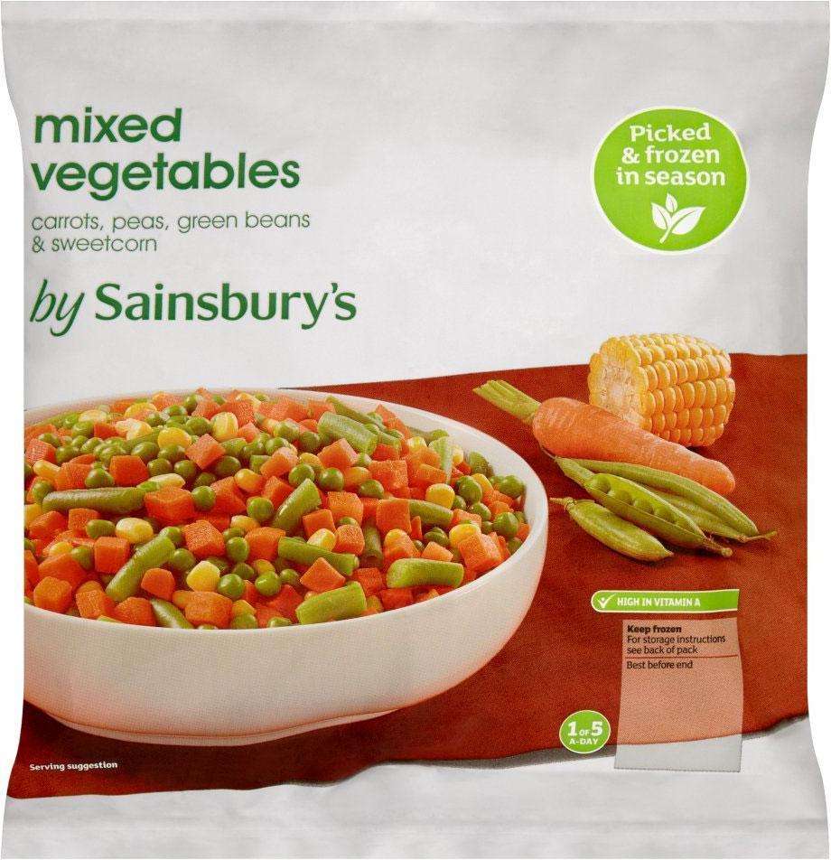 Sainsbury's promotes frozen veg