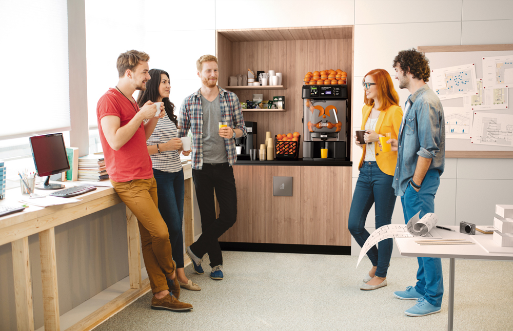 ZUMEX® takes freshly squeezed juice to the office with the new Versatile Pro Cashless