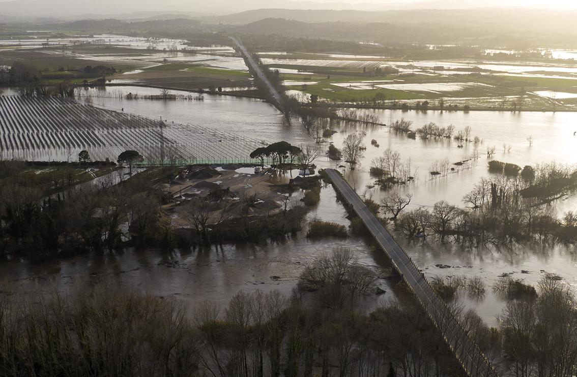 Spanish agriculture counts cost of Storm Gloria, Credit: Emilio Morenatti, AccuWeather