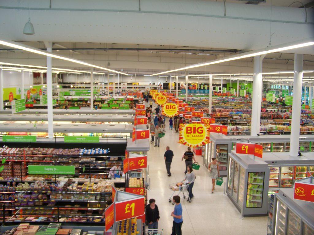 UK supermarket sales slow