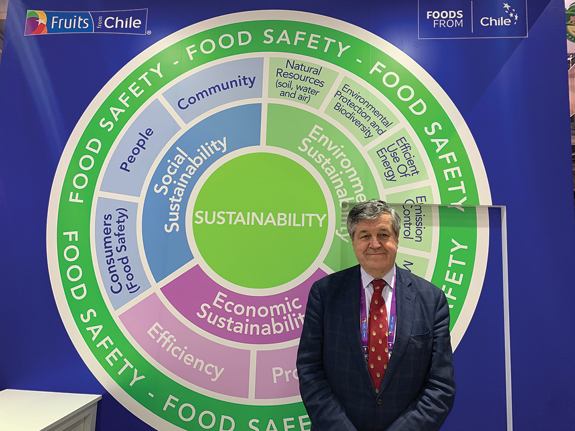 Chile puts people at the heart of sustainability policy, Ronald Bown, president of ASOEX