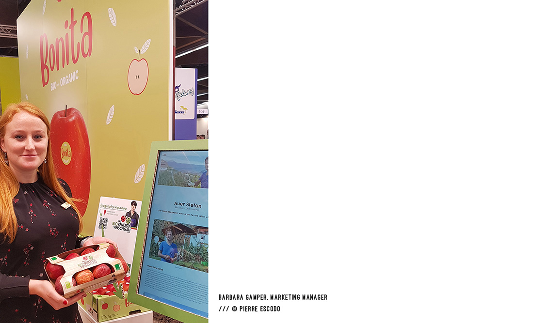 Barbara Gamper, Marketing Manager of Bonita, at BIOFACH2020 /// © Pierre Escodo