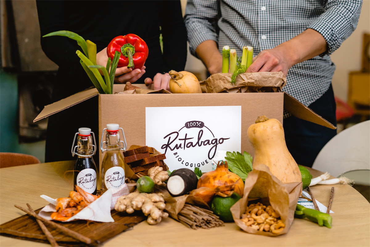 Rutabago ensures delivery throughout France of its 100% organic meal-preparation boxes
