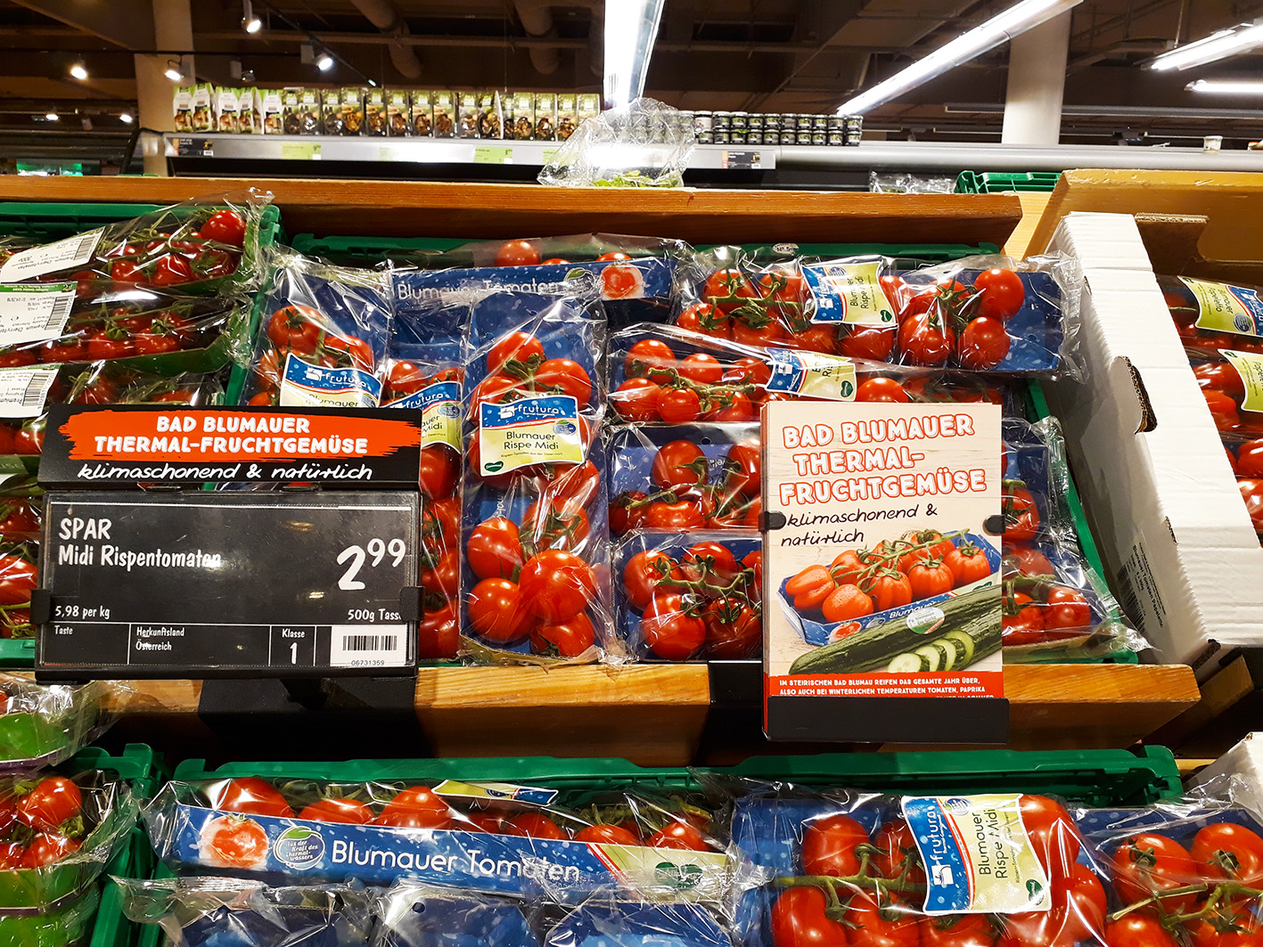 Spar Austria recognised for its Frutura tomato programme
