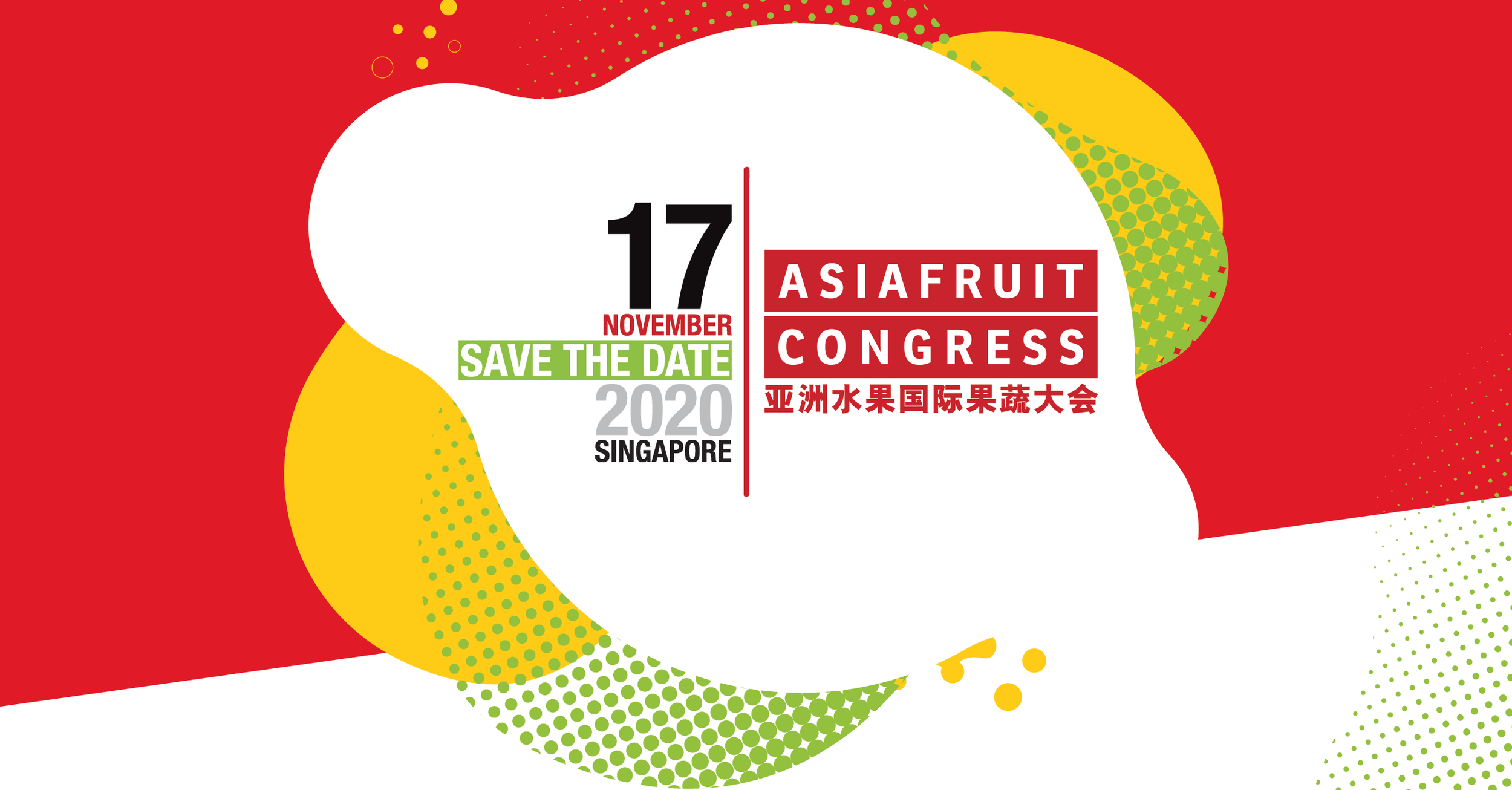 ASIAFRUIT CONGRESS 2020 will take place on November 17, 2020, in Singapore