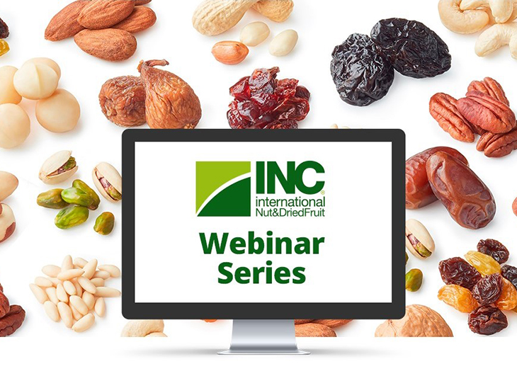 INC Webinar Series Connects Over 1500 Professionals from 75 Countries in the Nut and Dried Fruit Industry