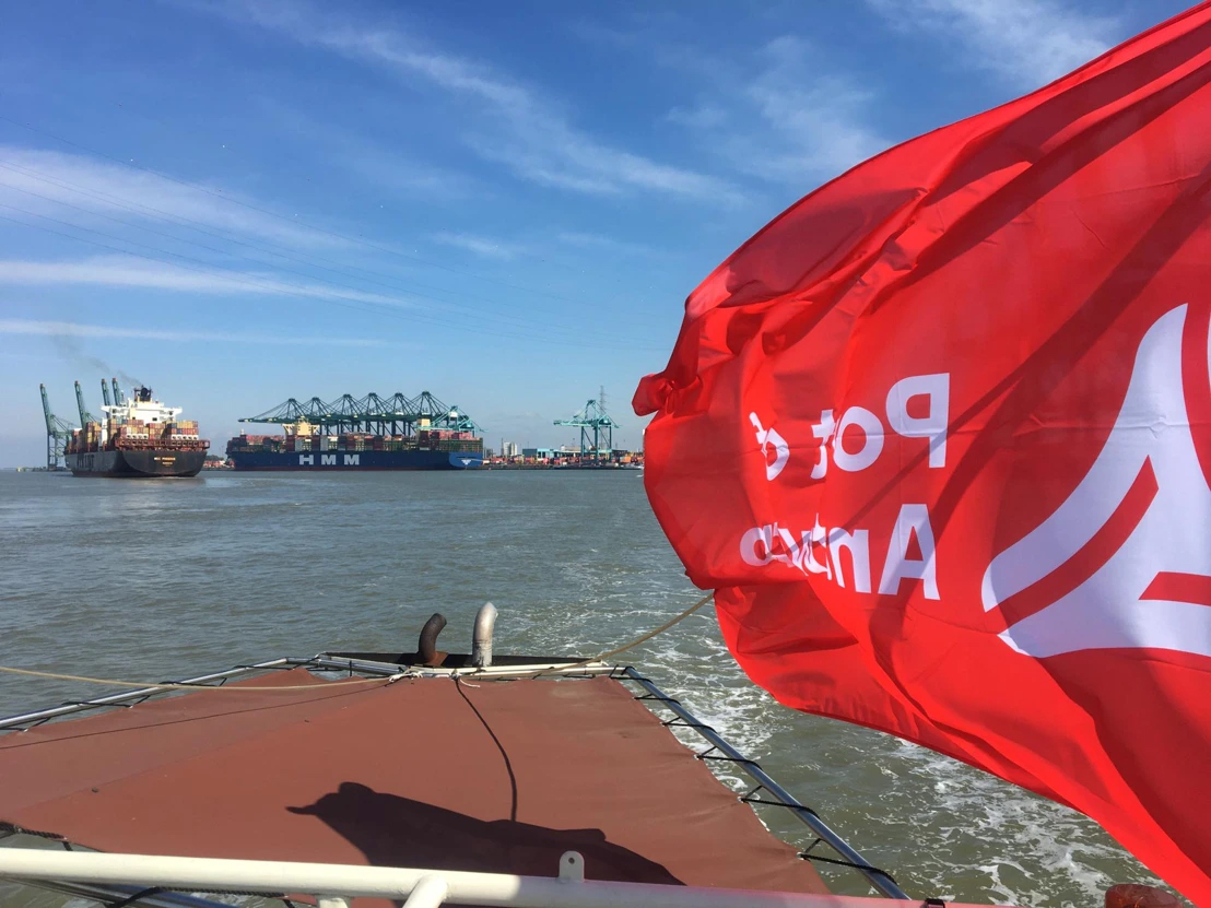 Largest container ship in the world calls on Port of Antwerp, © Port of Antwerp