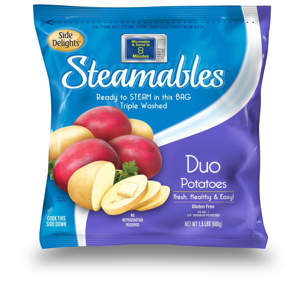 Side Delights® announces Steamables™ fifht year as #1 selling brand of microwave/steamable potato