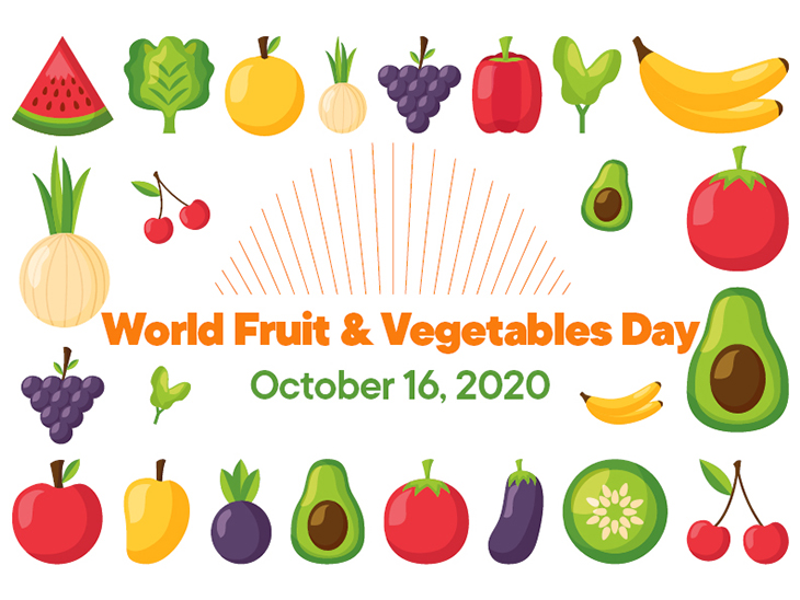World Fruit and Vegetables Day: October 16