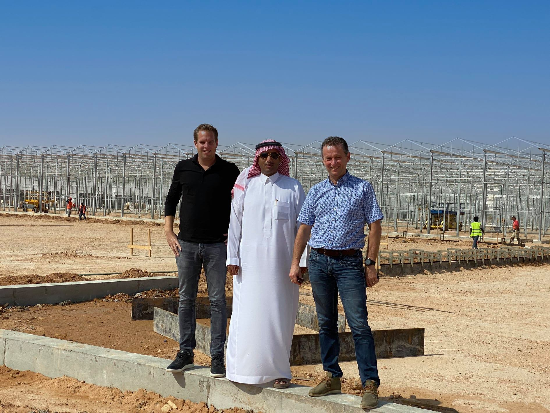 Sustainable vegetable production in Saudi Arabian desert under 80 hectares of glass
