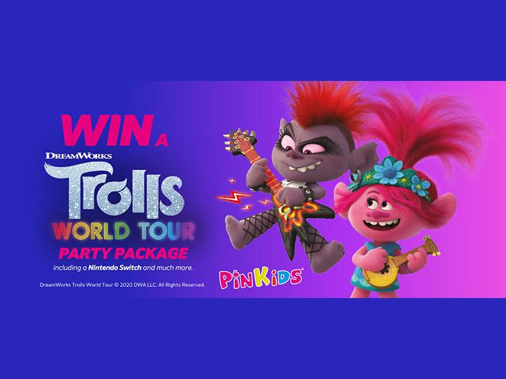 PinKids® adopts colours of Trolls 2 animated film © PinkLday and Dreamworks