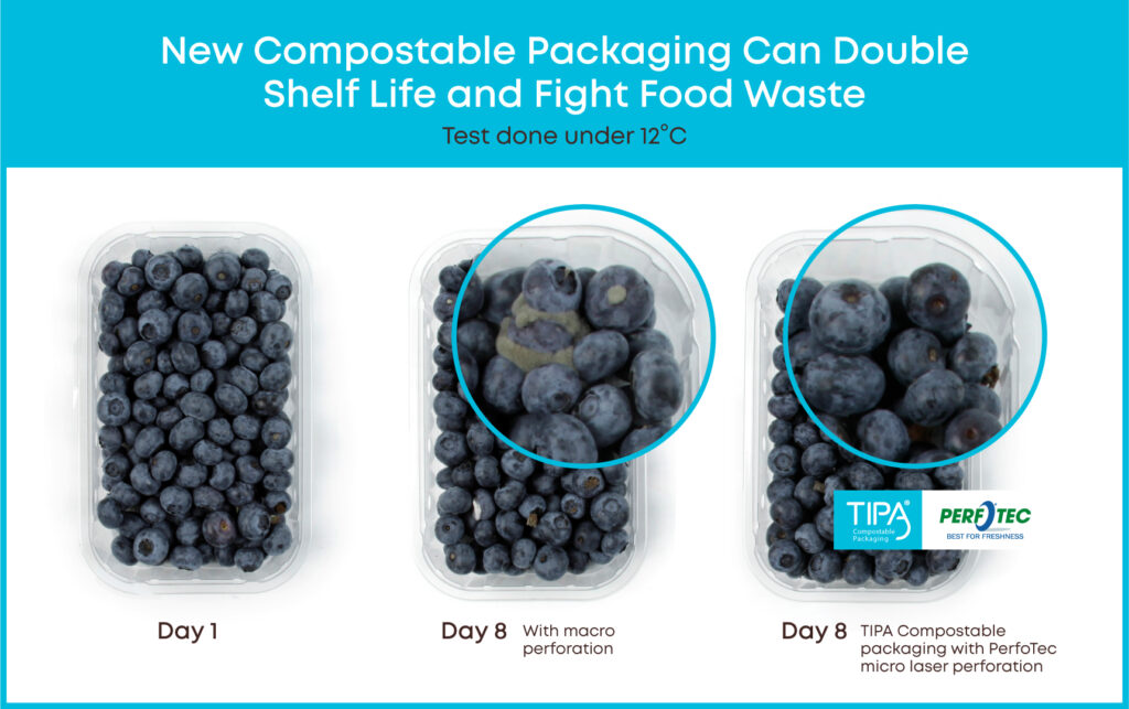 Innovative compostable film packaging to extend shelf life - TIPA and Perfotec © Perfotec