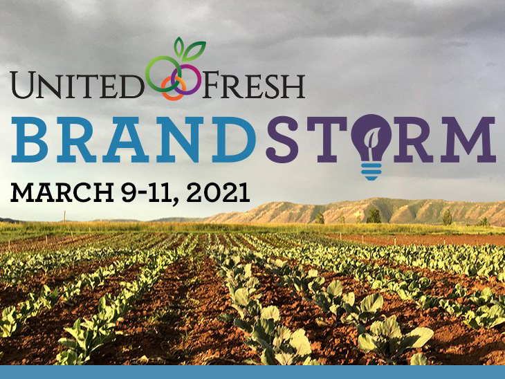 United Fresh's BrandStorm™ event to take place online with trio of expert speakers ©United Fresh