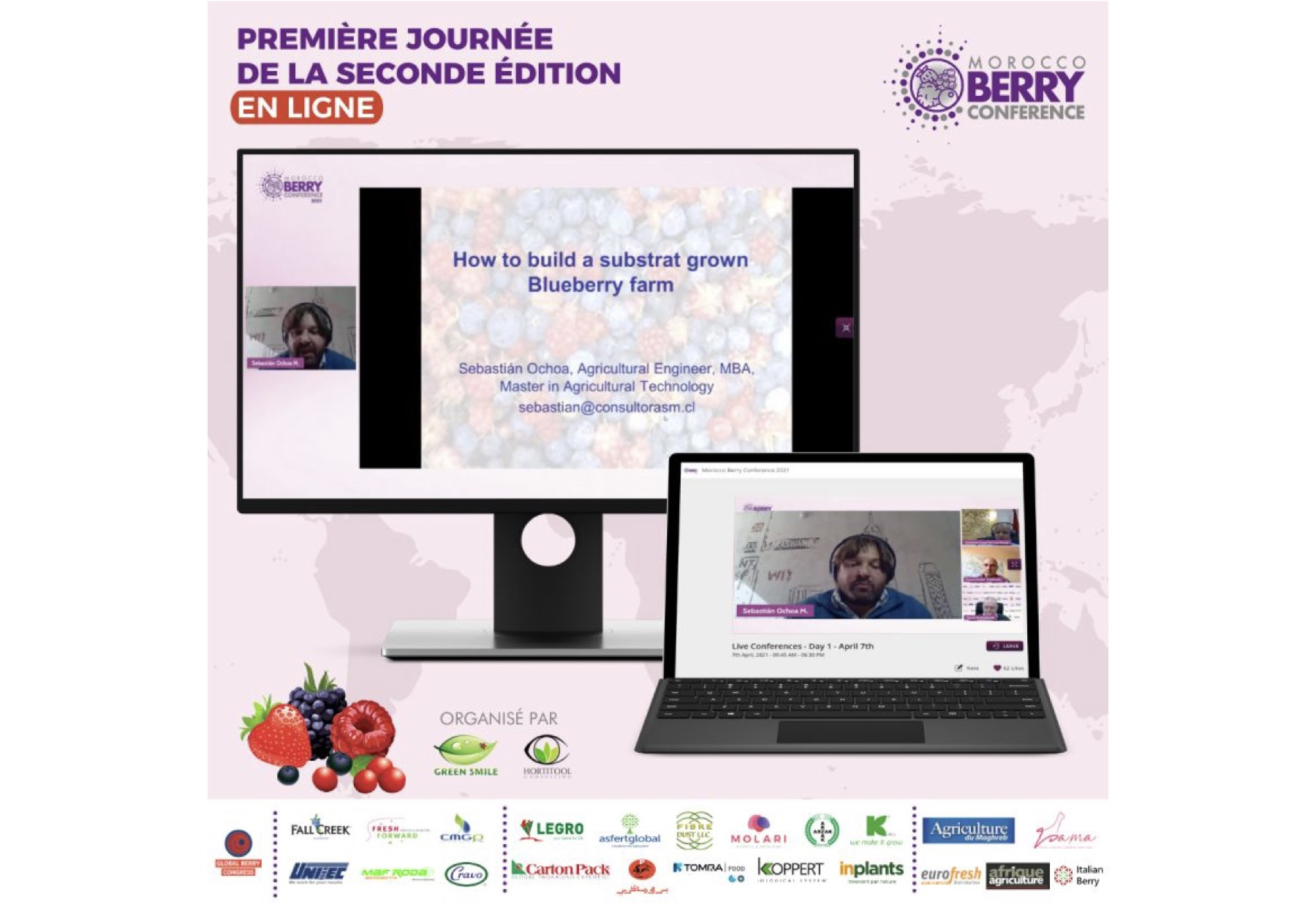 Morocco Berry Conference did run online on 7th and 8th April 2021