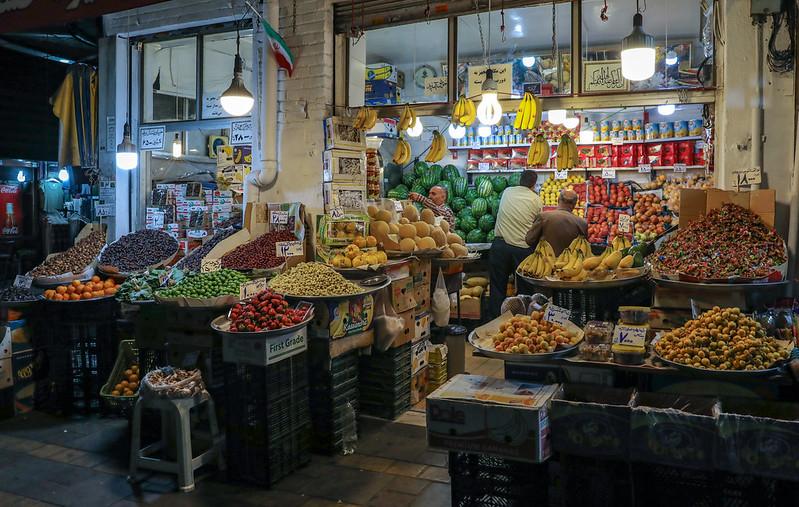 Fruit shop in Tehran