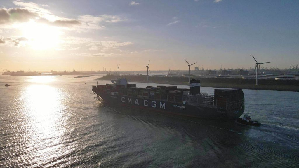 A ship from CMA CGM